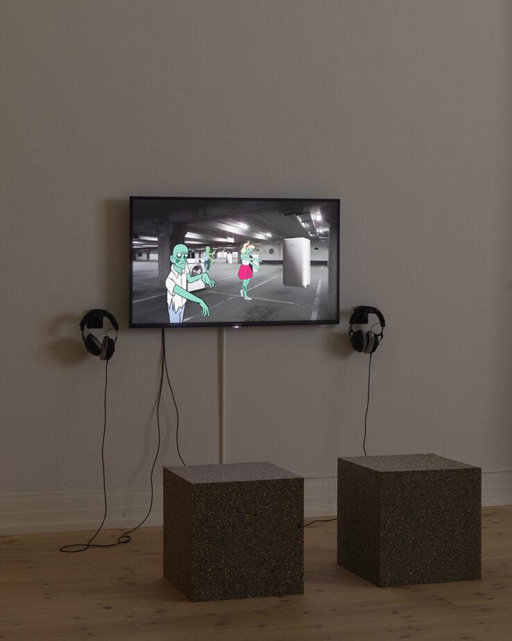 Piscine (Jens Settergren, Mark Tholander & Anna Ørberg), OS (2019), installation view, Kunsthal Aarhus