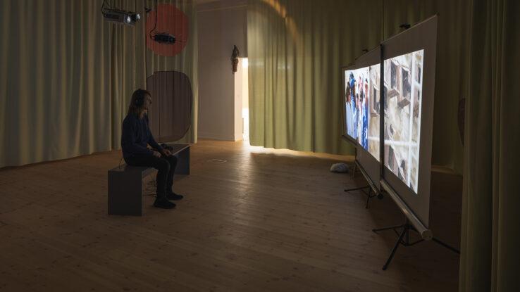 Maximilian Schmoetzer, Not Love Alone (2019), installation view, Kunsthal Aarhus. Photo: Mikkel Kaldal.