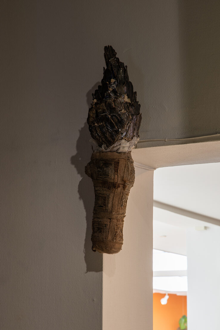 Maximilian Schmoetzer, Not Love Alone (2019), detail, Kunsthal Aarhus. Photo: Mikkel Kaldal.