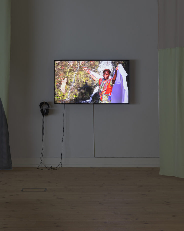 Linda Karin Larsen, A New Value System With Images and Symbols That Connect Us to Each Other and to The Planet: Dwell Among Water Spirits (2019), installation view, Kunsthal Aarhus. Photo: Mikkel Kaldal.