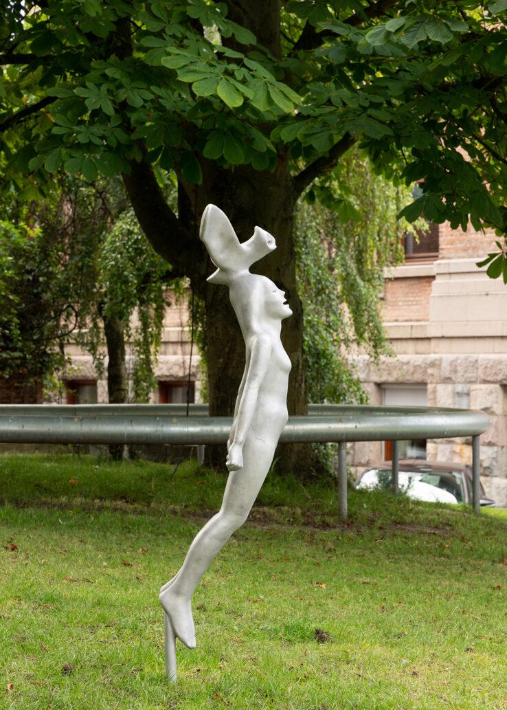 Rikard Thambert, Natugle (2019), installation view in the Sculpture Garden, Kunsthal Aarhus. Photo: Mikkel Kaldal.