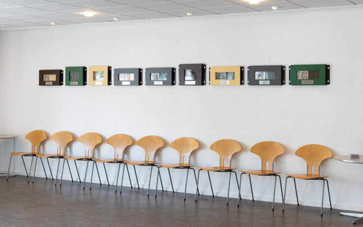 Jørgen Michaelsen, Dosis (2019), installation view at Aarhus Police Station. Photo: Mikkel Kaldal.