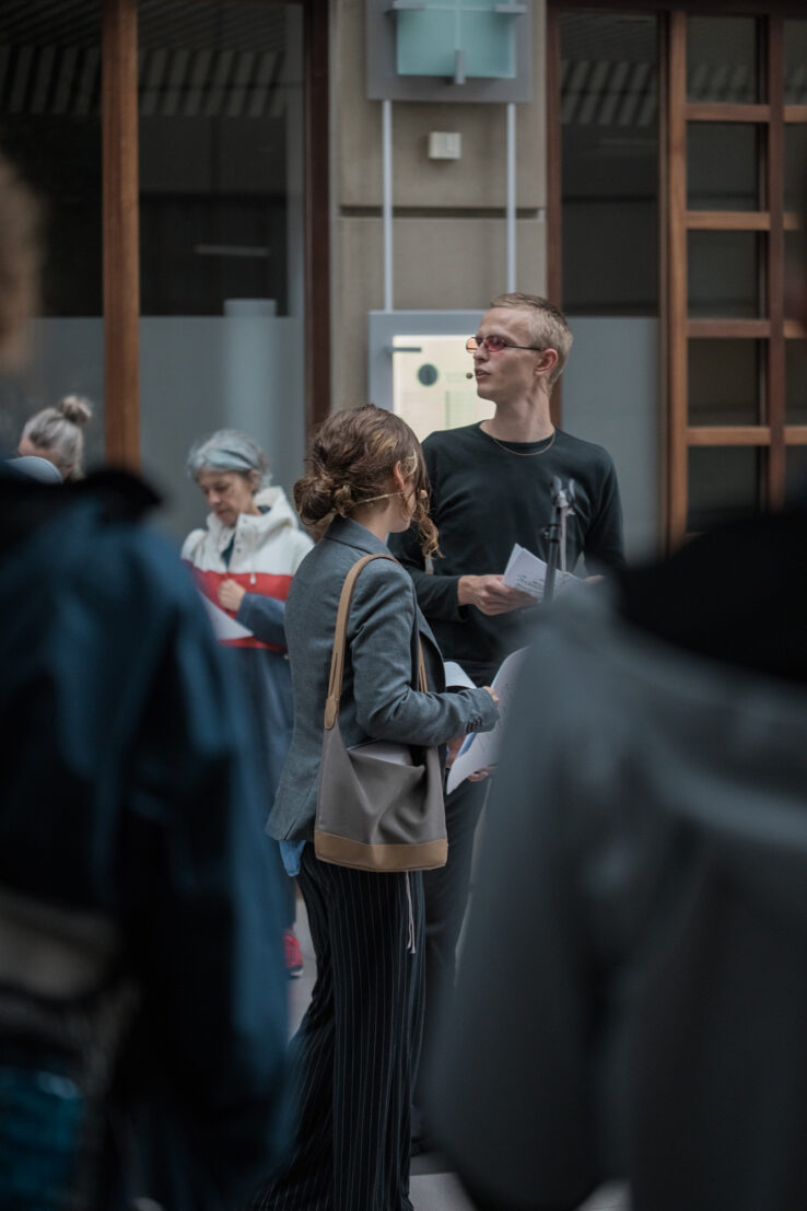 Union for Open Vocalism, Earplay (2019), performance in Scandinavian Center, Aarhus. Photo: Malte Riis.